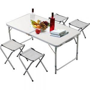 Τραπέζι Ρυθμιζόμενο με 4 Σκαμπώ Αλουμινίου_Πτυσσόμενο_ Βαλίτσα BGS1000 (026808)